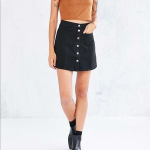 BDG Denim Button Down Skirt